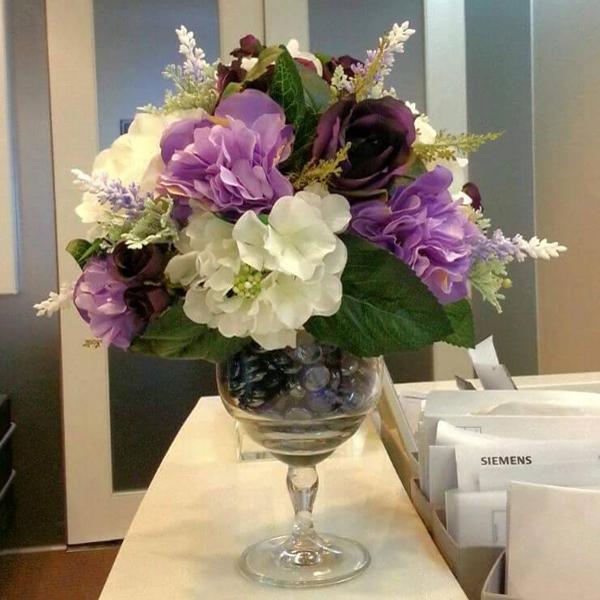 Hoa giả lụa để bàn đẹp giá rẻ của Nội Thất Overa